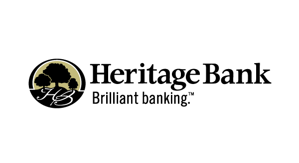 Heritage Bank logo with an image of three trees on a hill