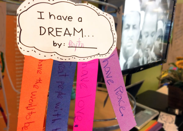 I Have a Dream Cloud Community Art Project @ Kansas Children's Discovery Center