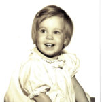 Sepia colored picture of Nancy Nelson - KCDC educator - as a child