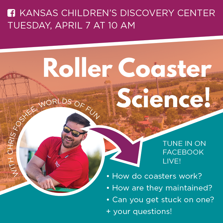 Roller Coaster Science Facebook Live Preview shows Chris Foshee, presenter and an image of Mamba roller coaster